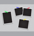 set of retro photo frame vector image
