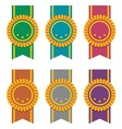 set of ribbon badges vector image vector image