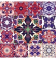 Set of seamless patchwork patterns from colorful vector image vector image