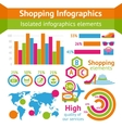 Shopping infographic set vector image vector image
