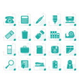 stylized simple office tools icons vector image vector image