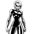 superheroine battle mode no cape line art vector image vector image
