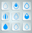 Water Drops Icons Set vector image vector image