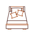 wooden bed with pillow blanket furniture room vector image vector image