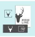 christmas deer head vector image