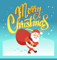 merry christmas greeting card or party vector image