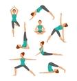 Yoga Set flat style vector image