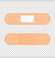 3d realistic medical patch icon set closeup vector image vector image