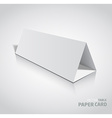 3d table paper card isolated on a grey background vector image vector image