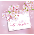 8 March - Womens Day Greeting Card Template vector image vector image