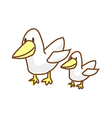 A mother duck with baby vector image vector image
