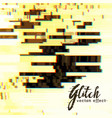 abstract glitch background vector image vector image
