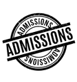 Admissions rubber stamp vector image vector image