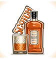 alcohol drink scotch whisky vector image vector image