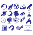 All about science and technology vector image vector image