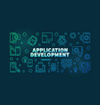 application development colored horizontal vector image vector image