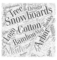 arbor snowboards Word Cloud Concept vector image vector image