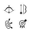 arrow archery simple related icons vector image vector image