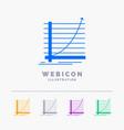 arrow chart curve experience goal 5 color glyph vector image
