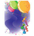 balloons and candy card vector image vector image