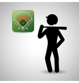 Baseball design sport icon flat vector image vector image
