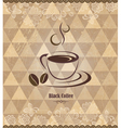Black coffee vintage pattern vector image