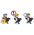 Black Polecat Mascot with sign vector image vector image