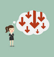 business failure vector image vector image