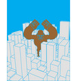 city and gorilla abstract skyline and monster vector image vector image