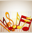 colorful music notes template vector image