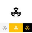 cube logo logotype icon symbol vector image