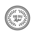 Decorated seal stamp icon Hand draw label design vector image vector image