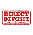 direct deposit stamp vector image vector image