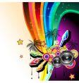 dj dance poster vector image vector image