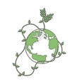 earth globe green icon vector image