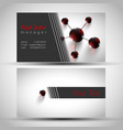 elegant business card front and back side vector image vector image