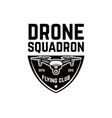emblem template with flying drone design element vector image