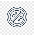 equality concept linear icon isolated on vector image vector image