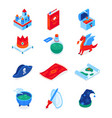 fantasy and fiction - modern colorful isometric vector image