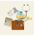 financial money management checkup planning vector image vector image