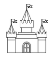 Fortress icon in outline style vector image vector image