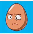funny cartoon easter egg emoji icon cute vector image vector image