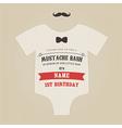 funny vintage babirthday invitation vector image vector image