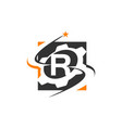 gear solution logo letter r vector image vector image