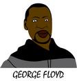 george floyd art vector image