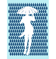 Girl and rain vector image vector image
