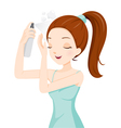 Girl Spraying Hair vector image