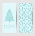 greeting card or banner for christmas and new year vector image vector image