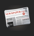 half of newspaper template with headline vector image vector image