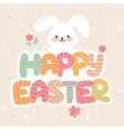 Happy Easter greeting card design with vector image vector image